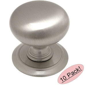 Amical *10 Pack* Cosmas Cabinet Hardware Satin Nickel Backplate Cabinet Knobs #6542sn Aussi Efficacement Qu'Une FéE