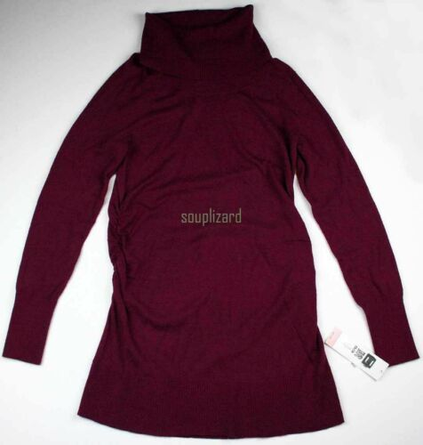 New Liz Lange Maternity Clothes Tunic Maroon Sweater Long Sleeve NWT Size Medium