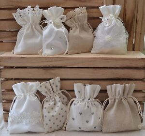 Image Is Loading Pretty Satin Or Hessian Bags Wedding Favour Confetti