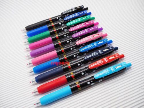 3pcs Zebra Sarasa Clip Black Body Kumamon 0.5mm Rollerball Pen Red Japan