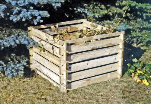 Composteur bois compost kompostsilo compost 120x120x70 steckkomposter