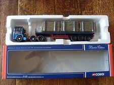 CORGI CC11905 ERF EC FLATBED TRAILER & LOG LOAD  JOS MILLICAN (PENTON) LTD BOXED
