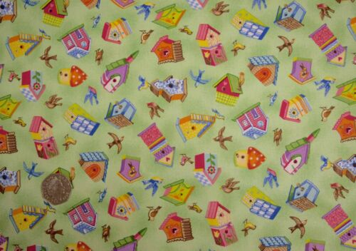 Bird Watcher Bird House Garden 100/% Cotton Patchwork Fabric Fat Quarters