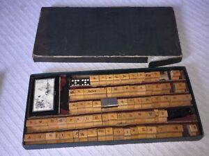 Vintage-Stamp-Set-Wood-Alphabet-A-Z-Symbols-Ink-Stamp-Pad-Original-CB-Box