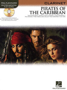 PIRATES-OF-THE-CARIBBEAN-Music-Book-amp-CD-for-CLARINET