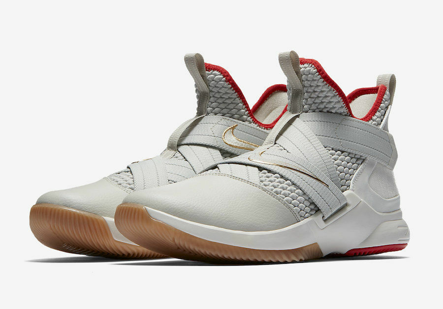 buy popular 42dff daf90 Authentic Nike Lebron Soldier XII XII XII 12 Mens AO2609-002 Light Bone  Basketball shoes
