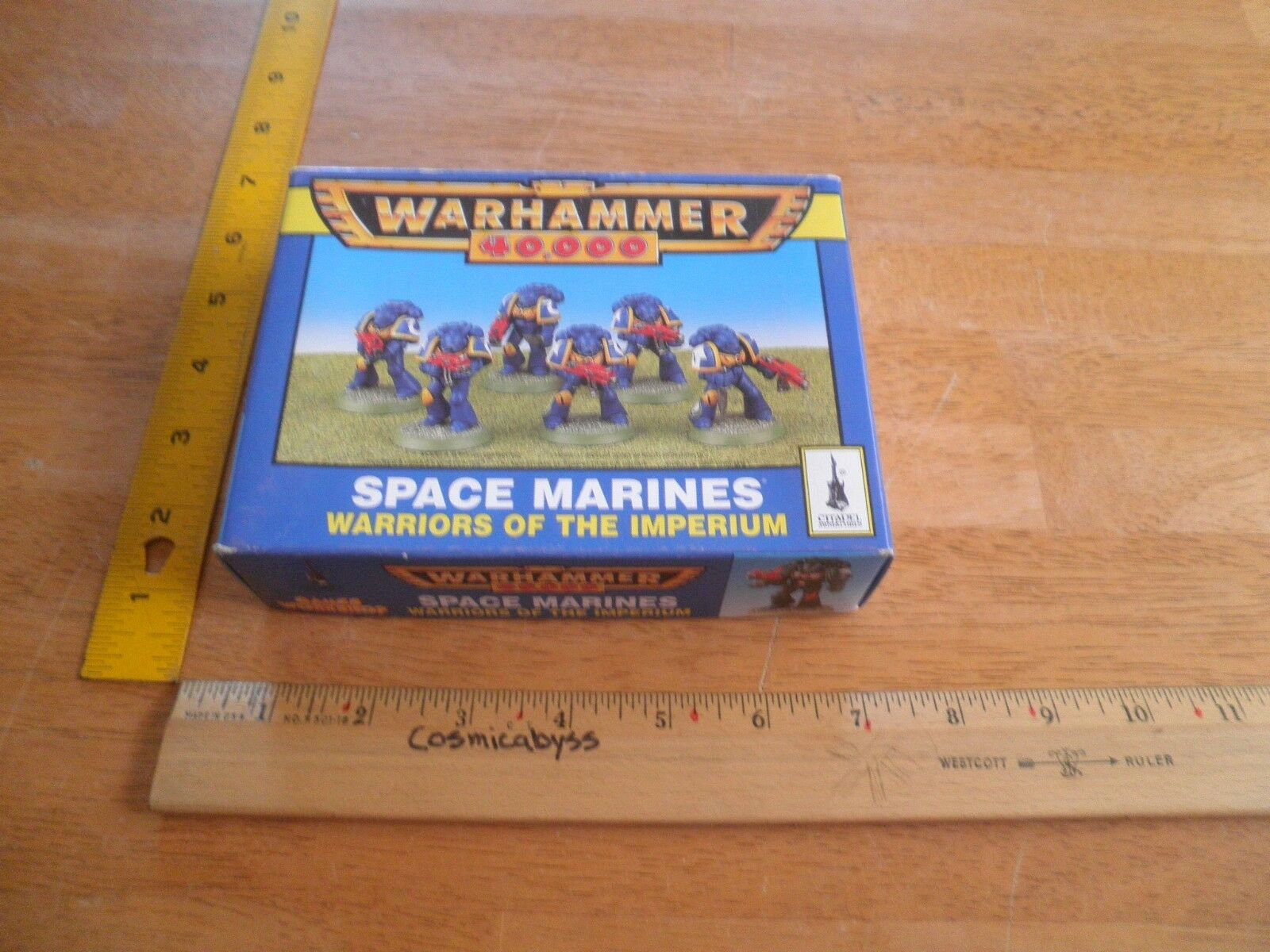 Space Marines Warhammer game figures figures figures Citadel 1984 in box 2ec1b4