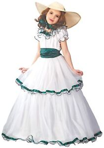 Southern Belle Girl Costume Ball Gown Dress Colonial Prairie | eBay