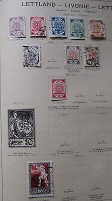 Kleine Briefmarkensammlung Lettland Livonie Lettonie Ab 1918 Rheuma Lindern 129659