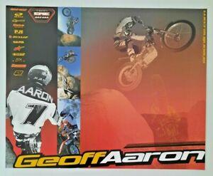 Vintage Poster 2001 Geoff Aaron 6 Time Trials Champion Gas Gas Endurocross