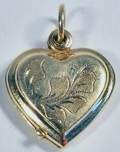 Antique Victorian Engraved Slide Heart Locket