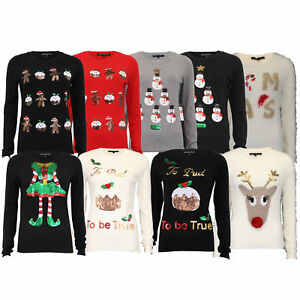 887c458a9e24 Ladies Mohair Chenille Christmas Jumper Heart And Soul Womens Xmas ...