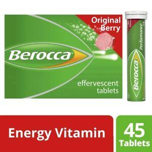 Berocca Energy Vitamin Original Berry 45 Effervescent Tablets 1 Pack