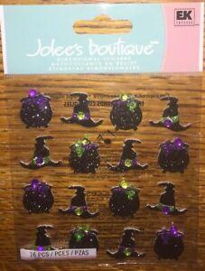 Halloween Witch Hat Glitter Gemstones Rhinestones Stickers