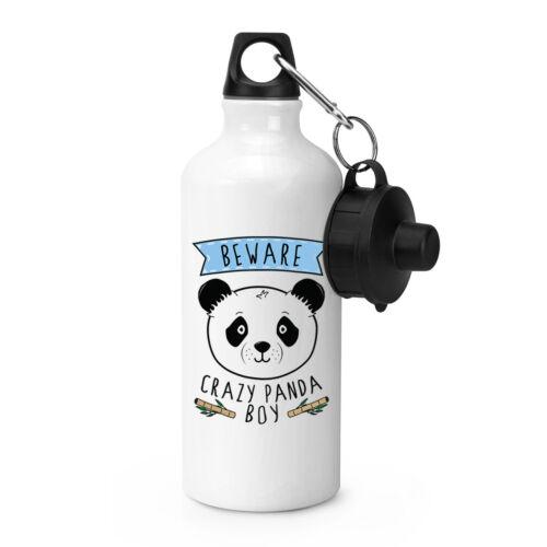 Beware Crazy Panda Boy Sports Drinks Bottle Camping Flask Funny Animal