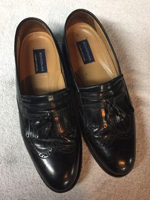 ede67056293 Bostonian Crown Windsor Men s Black Leather Slip On Dress Shoes Size Sz 11 D