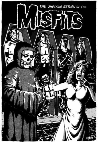 ROCK BAND SINGING GROUP THE MISFITS Poster #01 Multiple Sizes