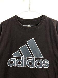 cdcff0757f7 Hommes Adidas Out Moyen Graphic Vintage Fade Retro Tee shirt Gris Logo  Spell Noir v80wmONn