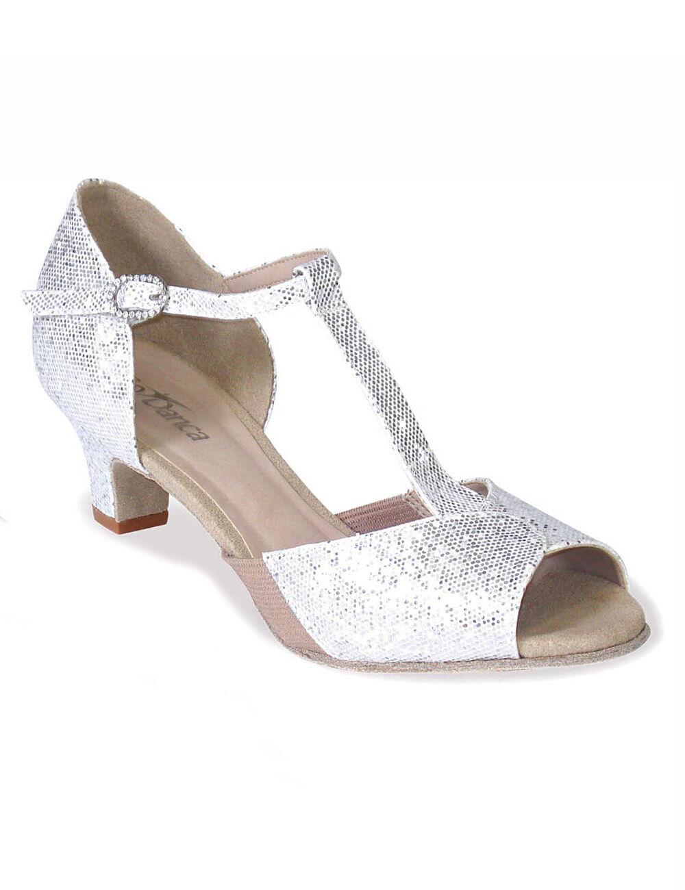 So Danca BL33 Damen Latein Tanz Schuhe Schuhe Schuhe Chromledersohle T-Strap sparkle silber dbedb8