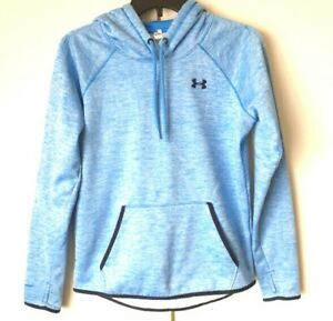 Under-Armour-Storm1-ColdGear-Women-039-s-Hoodie-Pullover-Blue-Size-X-Small-EUC