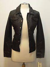 New JAKETT Mia NewYork Woman S Black Genuine Leather Jacket Anthropoligie Size S