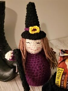 Witch-Besom-and-Cauldron-Crocheted-Doll