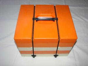 Capable Service à Pique-nique Vintage Orange 70 - Plateau Leicester England