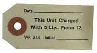 1968 1969 Oldsmobile Freon Charge Air Conditioner Compressor Tag