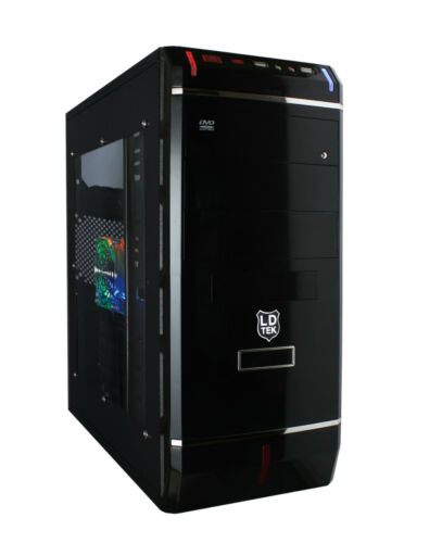 465T ATX PC Case 350W Bronze PSU With Side Window And Colour Fan