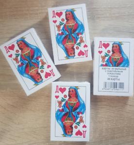 Russische Spielkarten mit 36 karten Kaufen Sie 2+1 und erhalten Sie ein GESCHENK