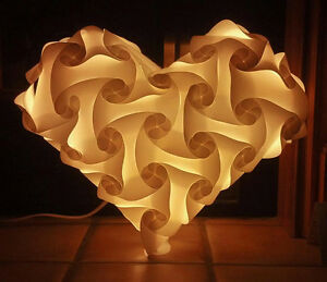 Details About Heart Shaped Infinity Lights Iq Light Ze Puzzle Jigsaw Lamp 61 Pieces Usa