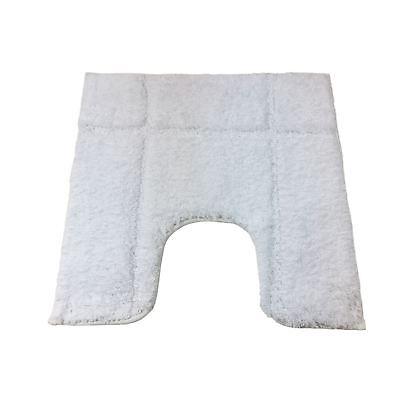 Bordeado blanco 1600GSM MICROFIBRA ANTIDESLIZANTE Pedestal Mat 50 X 50CM