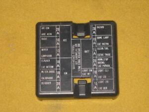 datsun 280zx fuse box cover blue color 1979 1983 ebay rh ebay com datsun 280z fuse box 280z fuse box upgrade