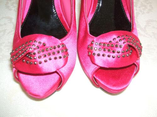 Bnwb 37 Chaussures Gr bretelles en soire de vif Teatro 4 49 diamante satin rose 1gqIxXndwd