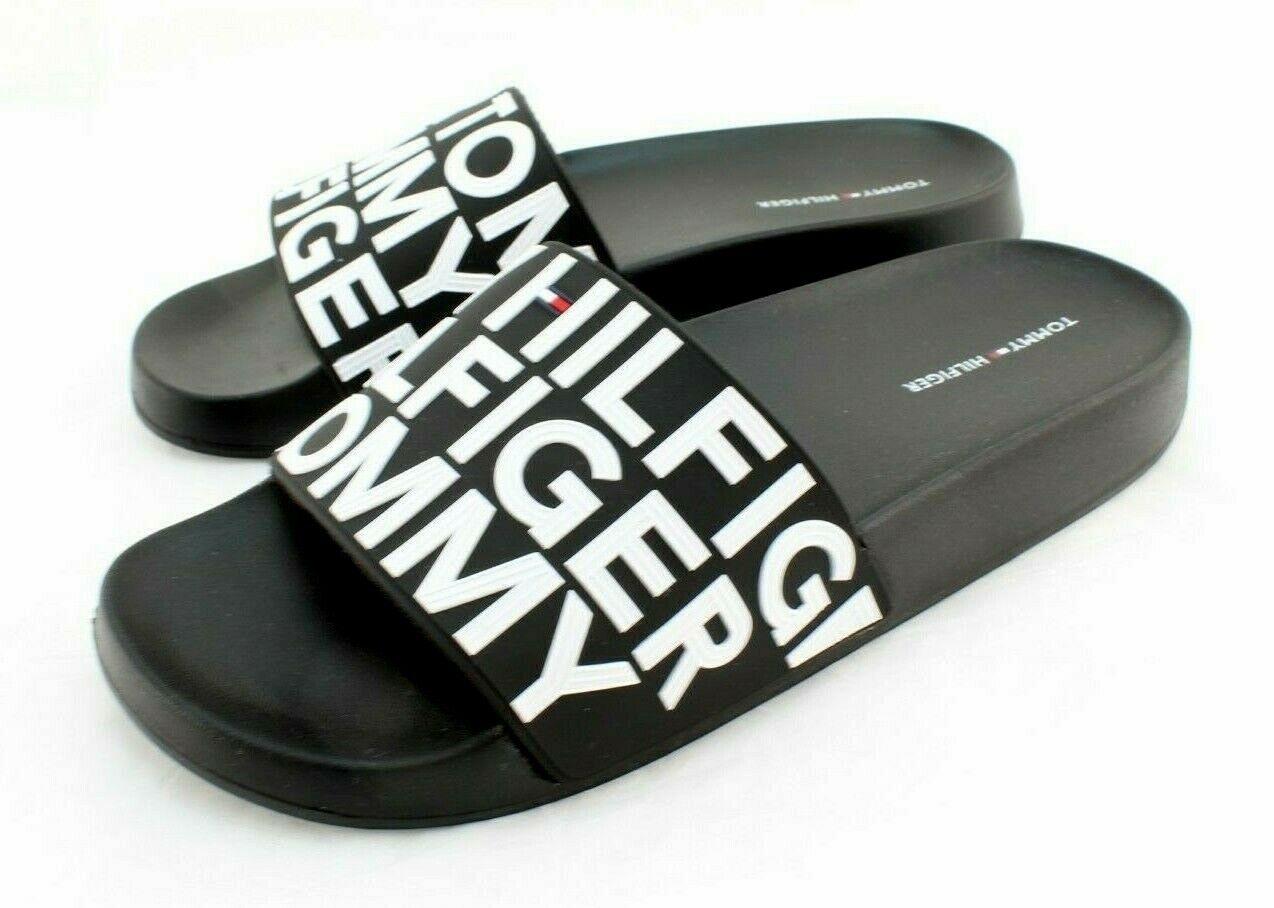 TOMMY HILFIGER Dalton Size 9 Black / White Women's Slides MSRP