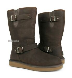 178bf675bff Details about UGG Australia Sutter Toast Leather Fur Boots Womens Size 10  *NIB*