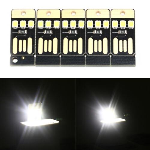 5PCS Night Lamp Mini Pocket Card USB Power LED 0.2W Light for Computer Laptop PI