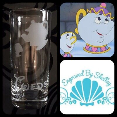 Beauty and the Beast Mrs Potts /& Chip Engraved Highball Glass Personalised
