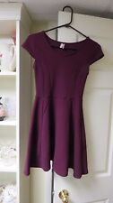 Frenchi Junior Dress Small Burgundy Knit Cap Sleeve Versatile