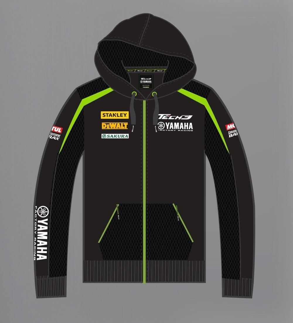 New Official Tech 3 Yamaha Team Zip Up Hoodie