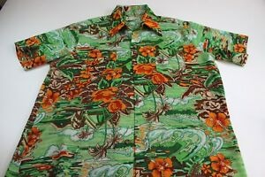 Large Island 1970's Camp shirt Loud Floral Extra Vtg Xl 8AxtFp8