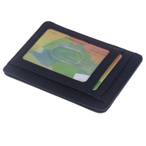 RFID Blocking Leather Slim Wallet Money Clip Credit Card Holder Coin Pocket KA