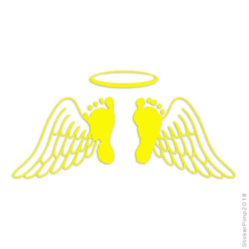 Baby Memorial Angel Decal Sticker Choose Color Size #3672
