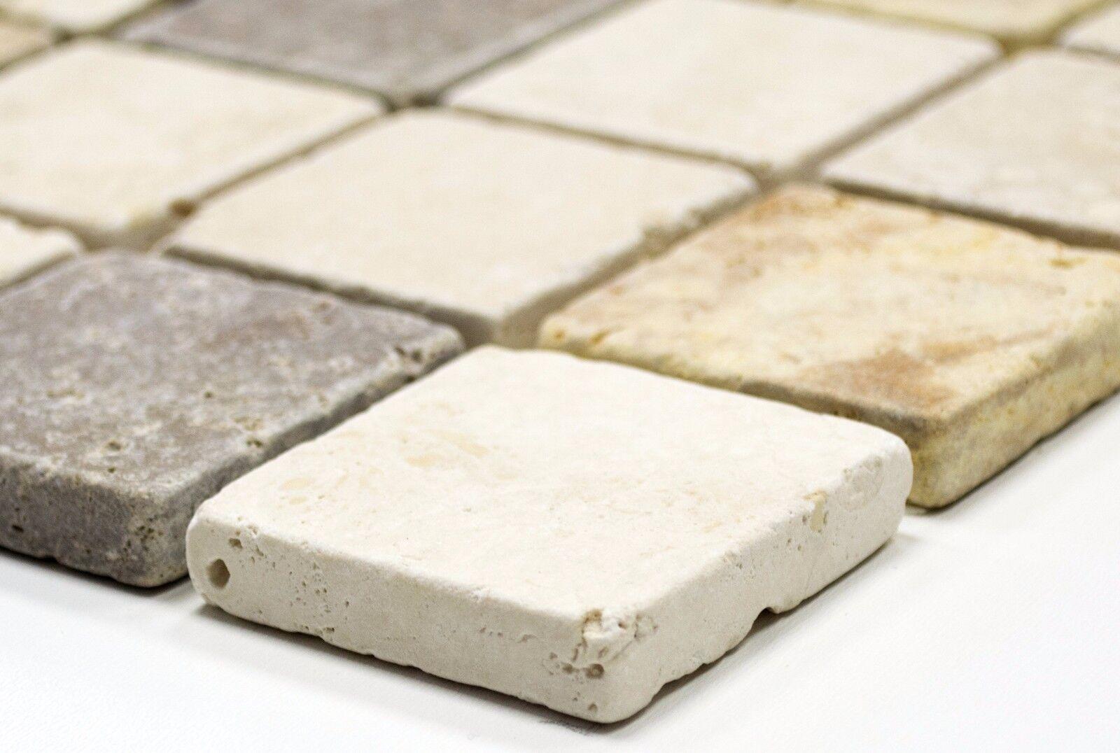 Mosaik Mosaik Mosaik Travertin Mix Tumbled Fliesenspiegel Küche Wand Art: 43-46685 | 10 Matten e02963