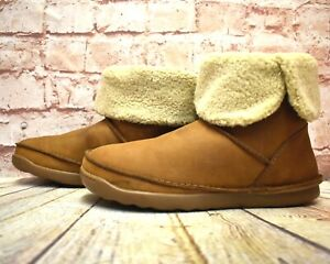 Womens-Clarks-Tan-Leather-Flat-Heel-Winter-Boots-UK-7-5-EUR-41-5