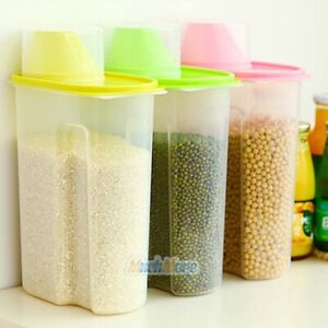 3 Pack 2.5L Large Cereal Keeper Food Storage Container 23.75 Cups+Measuring Cup