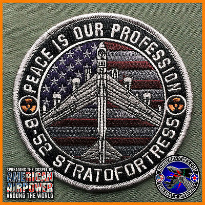 NEW B-52 Stratofortress Peace Is Our Profession Patch 93d Bomb Sq Barksdale AFB