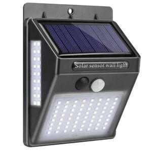 100-Led-un-Luce-Solare-Da-Esterno-Lampada-Da-Parete-Solare-Sensore-di-Movim-D6X9