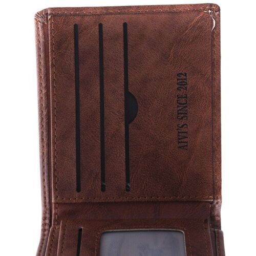 Stunning Men/'s Leather Pocket Holder US Dollar Bill Bifold Card Wallet Purse FI