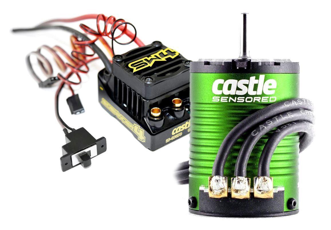 Castle Creations Sidewinder 4 Waterproof Sensorless ESC, w  1406-4600kv Motor